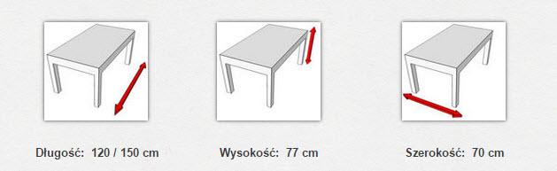 габаритные размеры стола  MAX VI