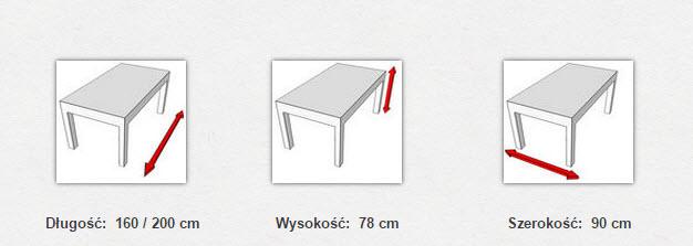 габаритные размеры стола MODENA II