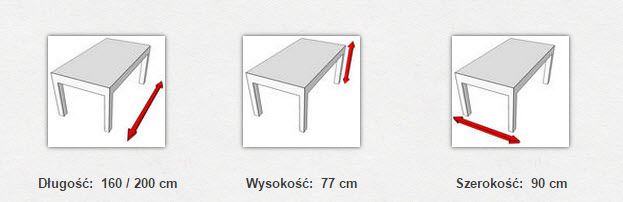 габаритные размеры стола MODENA IV
