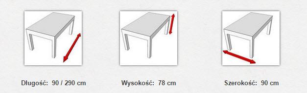 габаритные размеры стола  MODENA VI