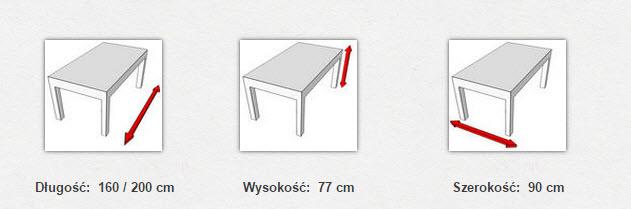 габаритные размеры стола Modena IV ALU